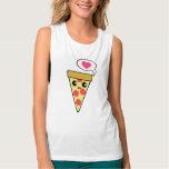 Pizza Love Flowy Muscle Tank Top