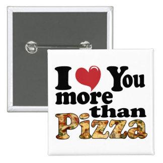 Pizza Love Pinback Button