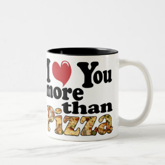 Pizza Love Two-Tone Coffee Mug