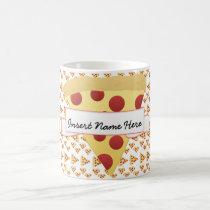Pizza Lover Customizable Monogram Coffee Mug