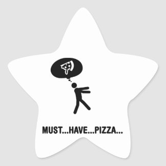 Pizza Lover Star Stickers