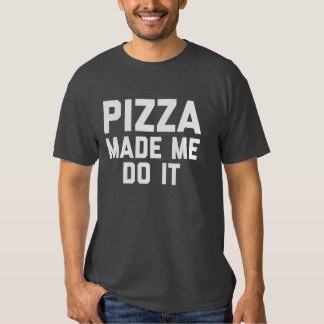 Pizza Made Me Do It - Dark Grey T-Shirt