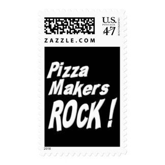 Pizza Makers Rock ! Stamp