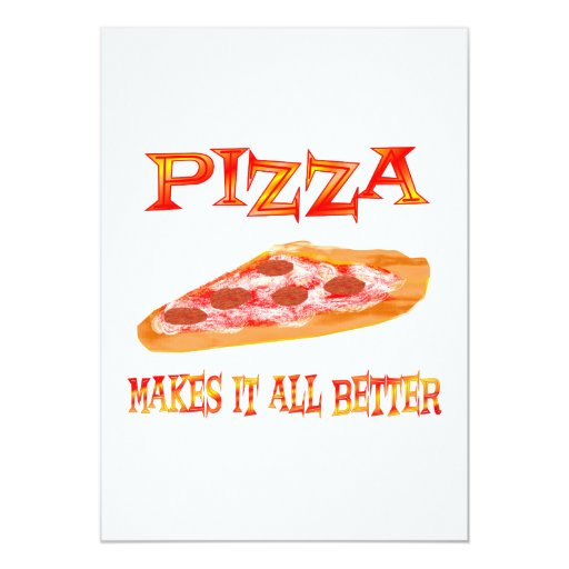 Pizza Makes it Better Personalized Invites