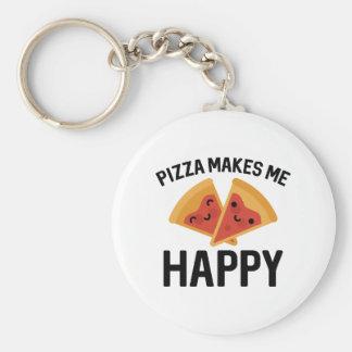 Pizza Makes Me Happy Keychain
