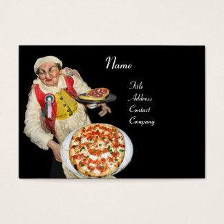 PIZZA & MANDOLIN ITALIAN KITCHEN  ,black red Business Card