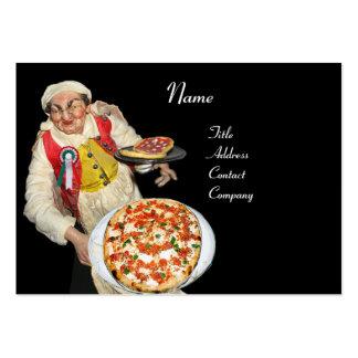 PIZZA & MANDOLIN ITALIAN KITCHEN  ,black red Large Business Card