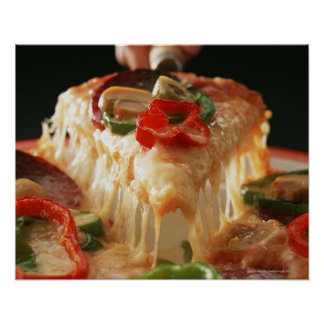Pizza mezclada impresiones
