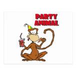 Pizza Monkey Party Animal Postcard