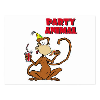 Pizza Monkey Party Animal Postcard