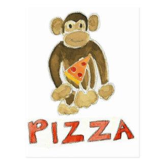 Pizza Monkey Postcard