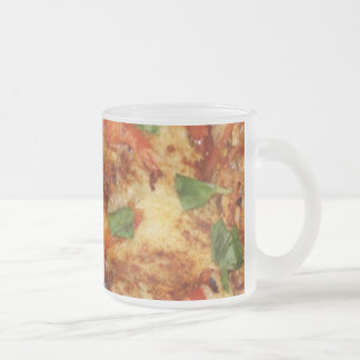 Pizza 10 Oz Frosted Glass Coffee Mug