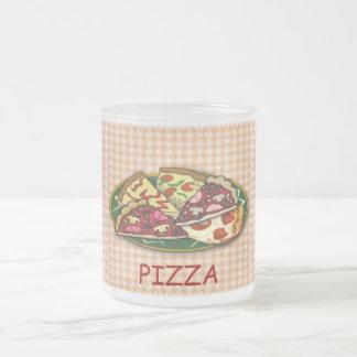 Pizza 10 Oz Frosted Glass Coffee Mug