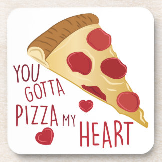 Pizza My Heart Drink Coasters