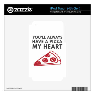 Pizza My Heart iPod Touch 4G Skin