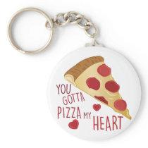 Pizza My Heart Keychain