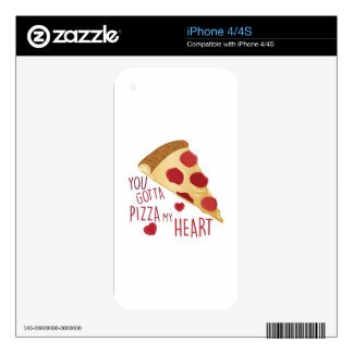 Pizza My Heart iPhone 4S Decal