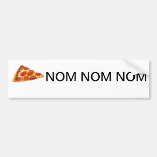 Pizza Nom Nom Nom Bumper Sticker