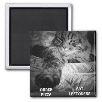 PIZZA OR LEFTOVERS? 2 INCH SQUARE MAGNET