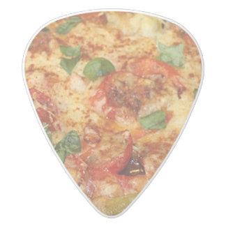 Pizza Plectro De Delrin Blanco