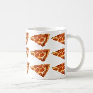Pizza para el desayuno taza básica blanca