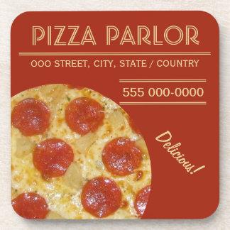 Pizza Parlor custom coasters