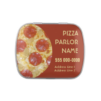 Pizza Parlor custom tins & jars Jelly Belly Candy Tins
