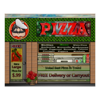 Pizza Parlor Poster