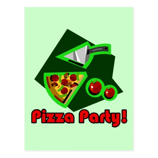 Pizza Party 2 Postcard