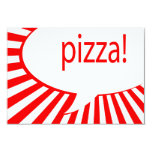 pizza! party 3.5x5 paper invitation card