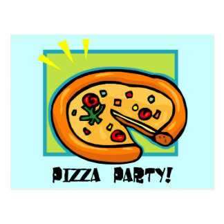 Pizza Party 3 Postcard