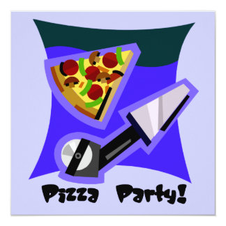 Pizza Party 4 Card