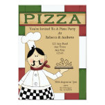 Pizza Party 5x7 Paper Invitation Card