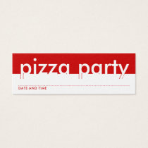 pizza party appointment card