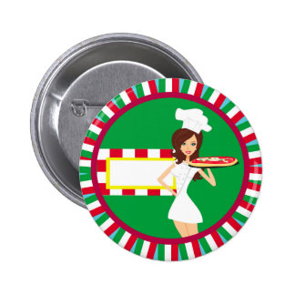 Pizza Party Badge Button