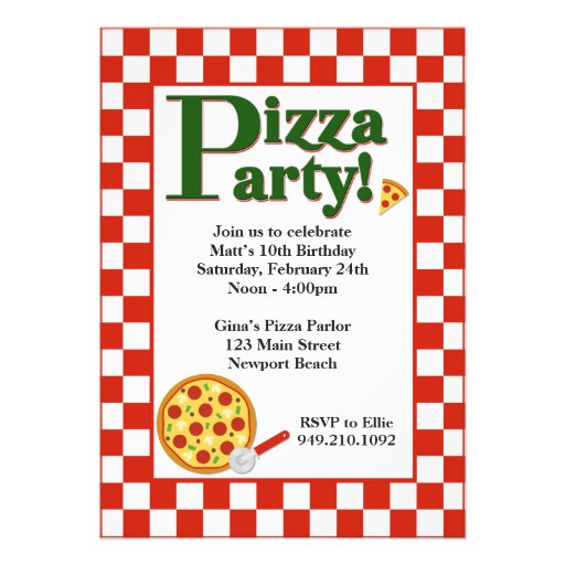 Pizza Party Invitation Template Pizza Party Invitations Quad – Pizza Party Invitation Wording