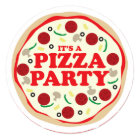 Pizza Party Birthday Invite