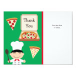 Pizza Party Birthday Thank You Card