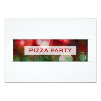 pizza party bokeh card