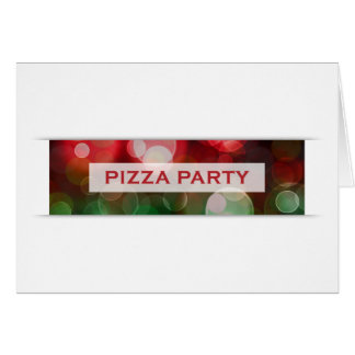 pizza party bokeh card