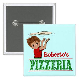 Pizza Party Boy Button Favor