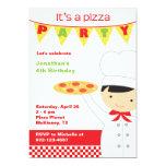Pizza Party Boy Invitations Personalized Invites