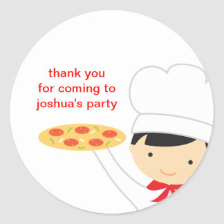 Pizza Party Boy Stickers Stickers