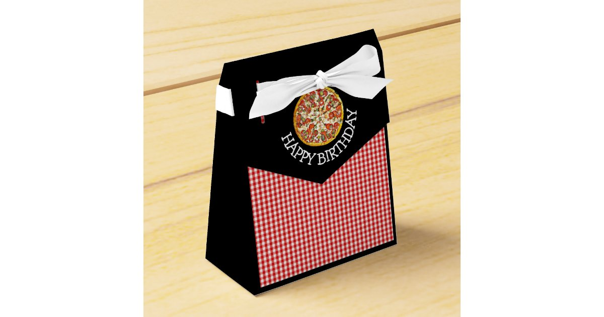 Pizza Party Candy Favor Bags for Birthday Party Favor Box | Zazzle.com