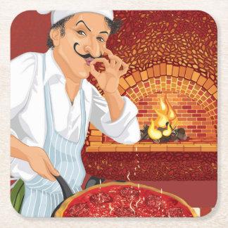 Pizza Party Chef Paper Coaster - SRF
