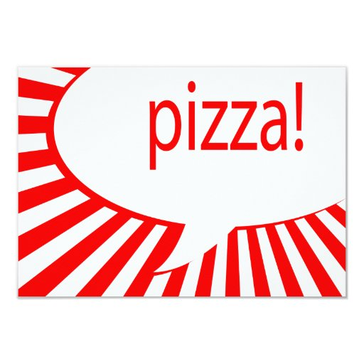pizza! party custom announcements