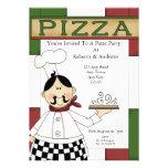 Pizza Party Custom Invitations
