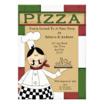 Pizza Party Custom Invite