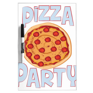 Pizza Party Dry-Erase Board