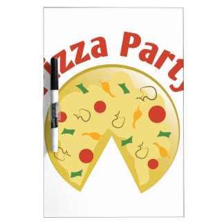 Pizza Party Dry Erase Board